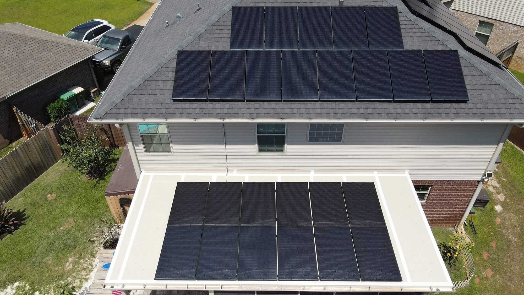 The Hughes Family's solar array looks mighty fine from above in this residential case study of their experience switching to solar