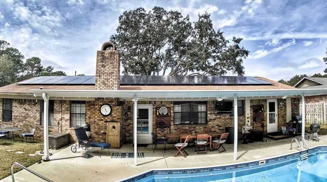 Phil Nickinson has created a solar oasis at his home in Pensacola with a beautiful solar array on the southern side of his home.